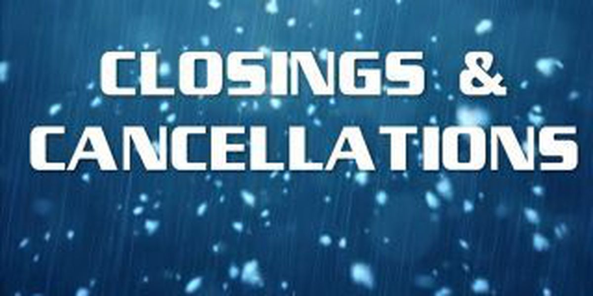 Winter weather related cancellations
