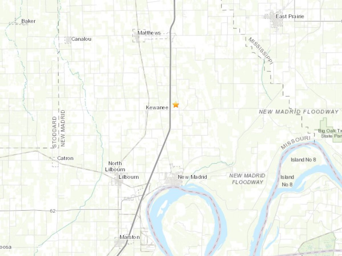 Small earthquake recorded in New Madrid Co., Mo.