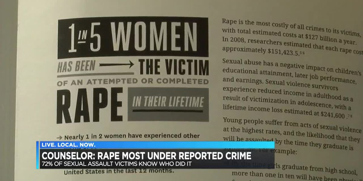 Counselor: Rape most under-reported crime
