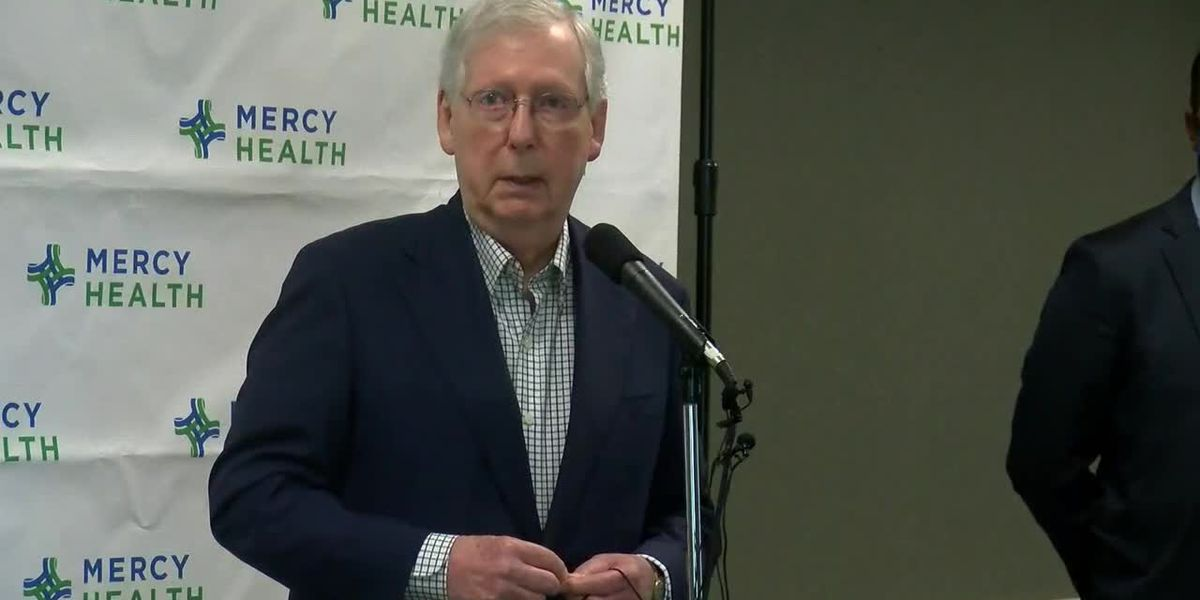 RAW VIDEO: Sen. Mitch McConnell thanks frontline healthcare workers in Paducah, Ky.