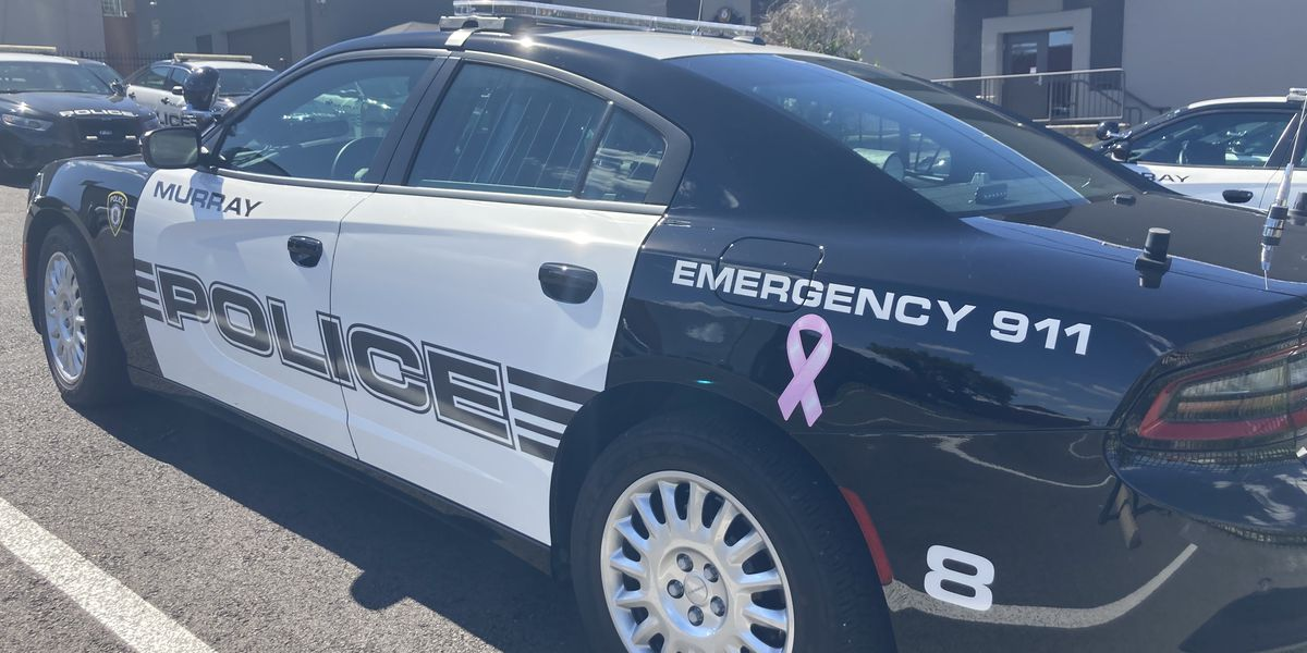 Pink ribbons added to Murray police vehicles for month of October