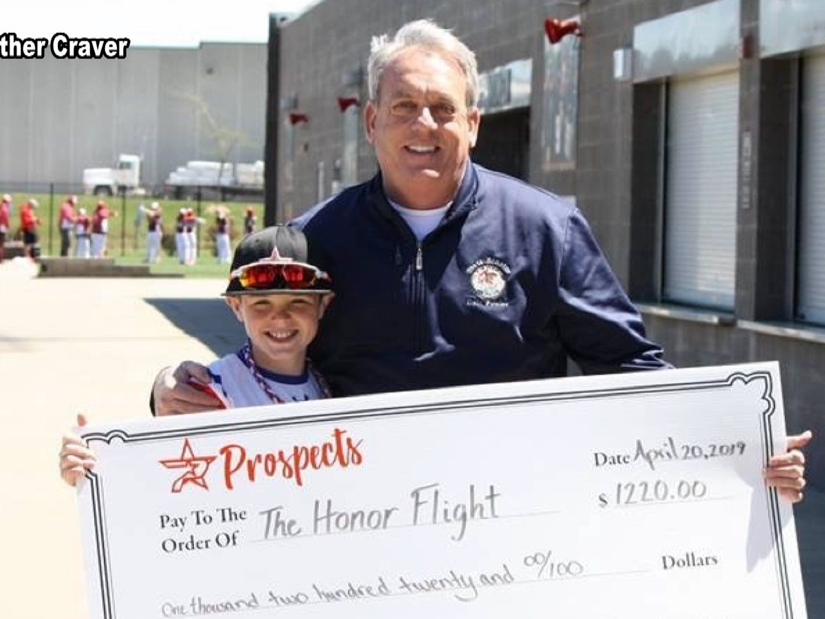 11-year-old raises over $1,200 for Veteran Honor Flight