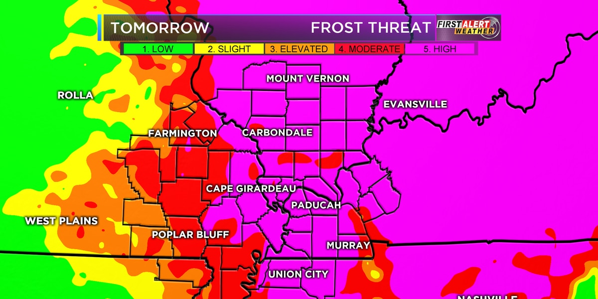 First Alert: Cold overnight, frosty morning