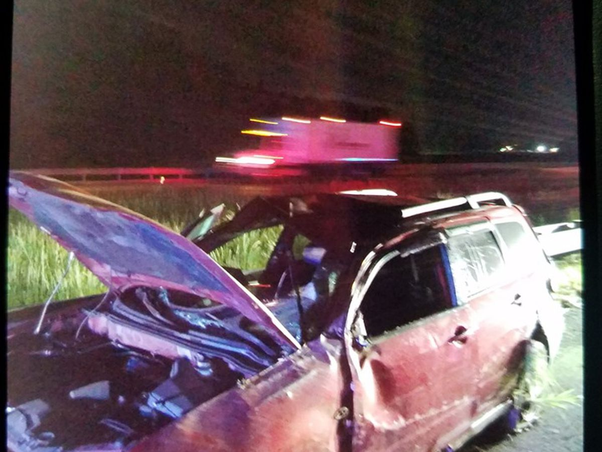 Rollover crash injures driver and passenger on I-24