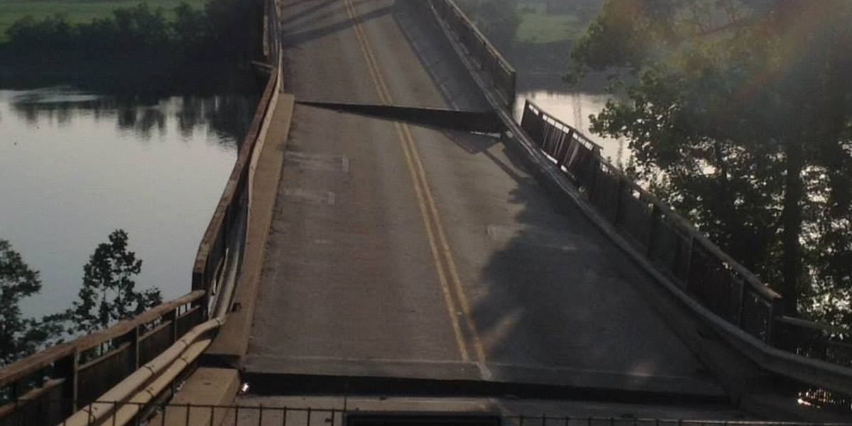 KYTC: Old Ledbetter Bridge drops another 3 to 4 inches overnight
