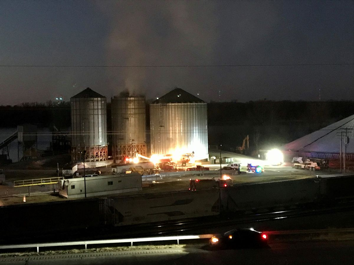 Crews on scene of grain fire at SEMO Regional Port Authority