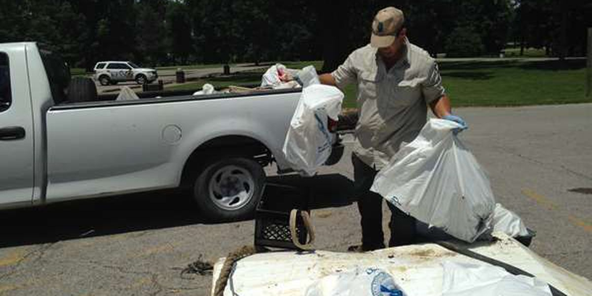 Dozens come out for Ohio River cleanup