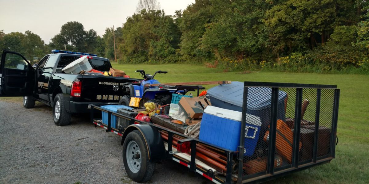 Several stolen items from reported thefts recovered in McCracken Co., Ky.