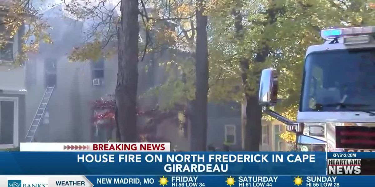 Crews on scene of house fire on N. Frederick St. in Cape Girardeau