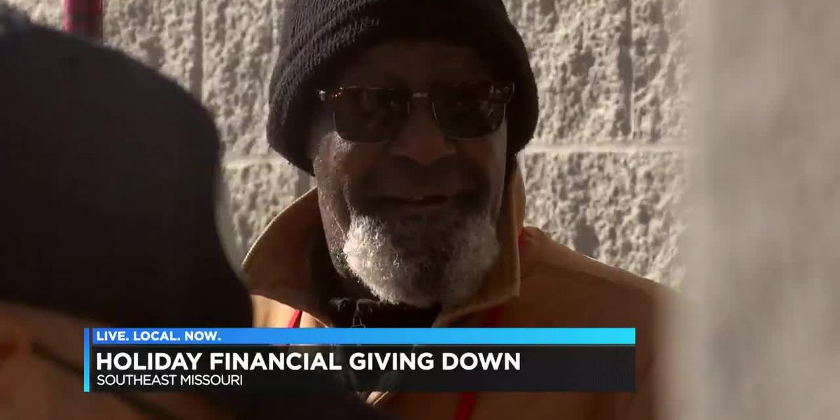 Charity donations are down this holiday season