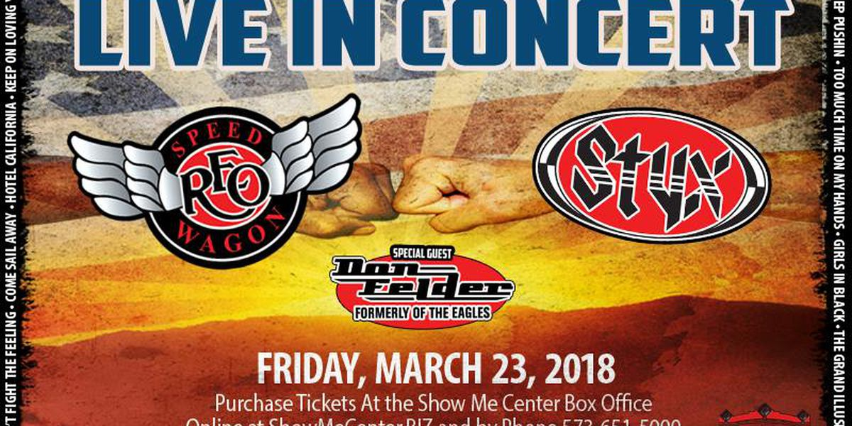 LIVE IN CONCERT: REO Speedwagon and Styx to return to Cape Girardeau