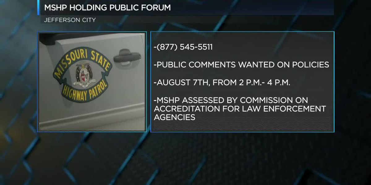 MSHP to hold public forum
