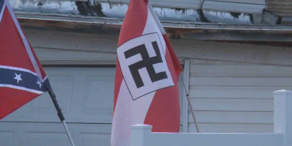 Community protests Colorado man's Nazi flag