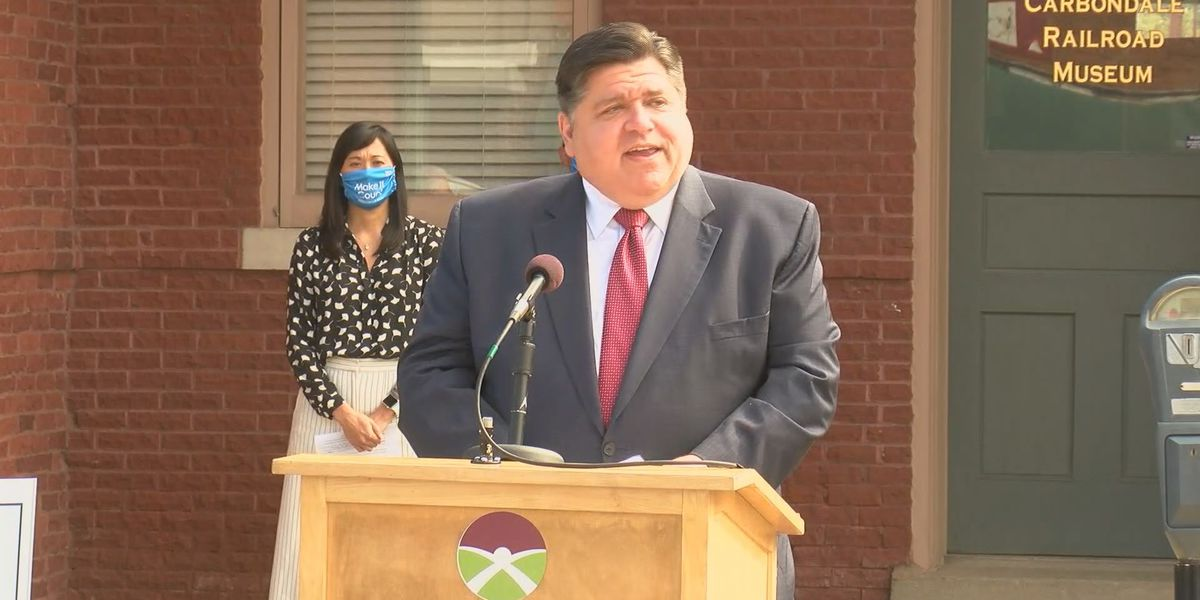 Gov. Pritzker stops in Carbondale, Marion to discuss 2020 Census