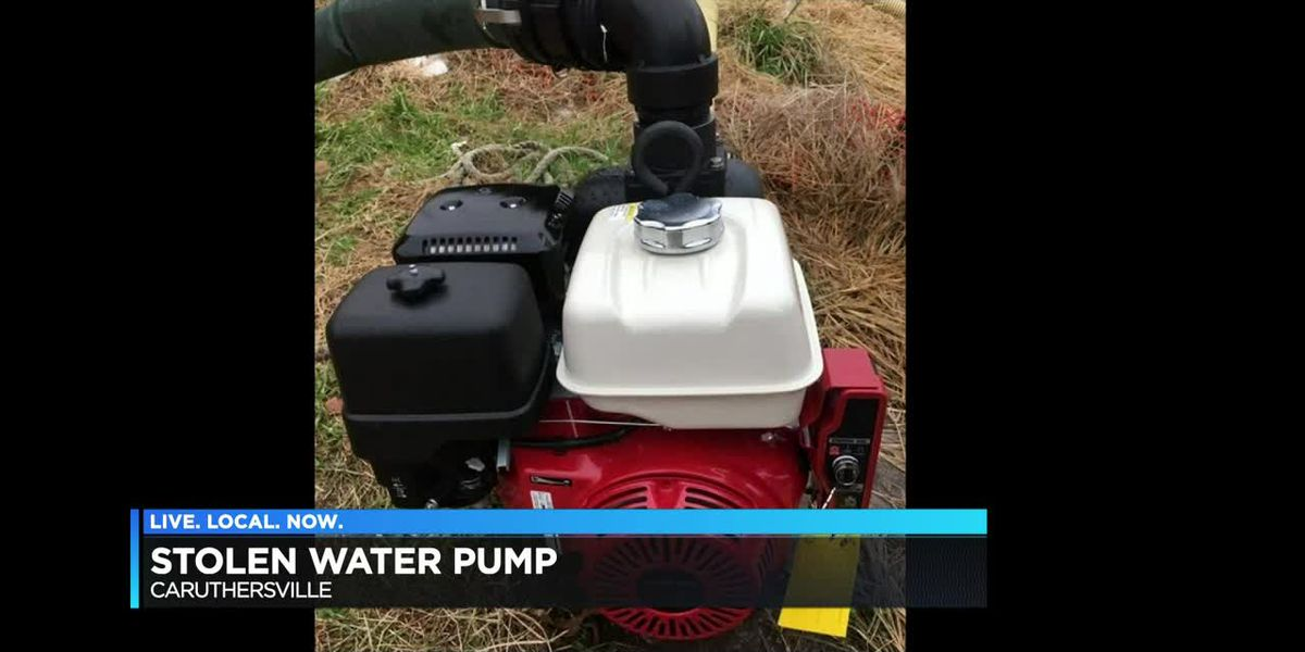 Water pump stolen in Caruthersville, Mo.