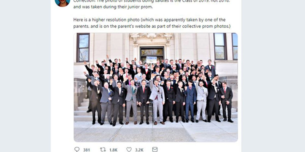 High school students photographed doing Nazi-type salute at prom