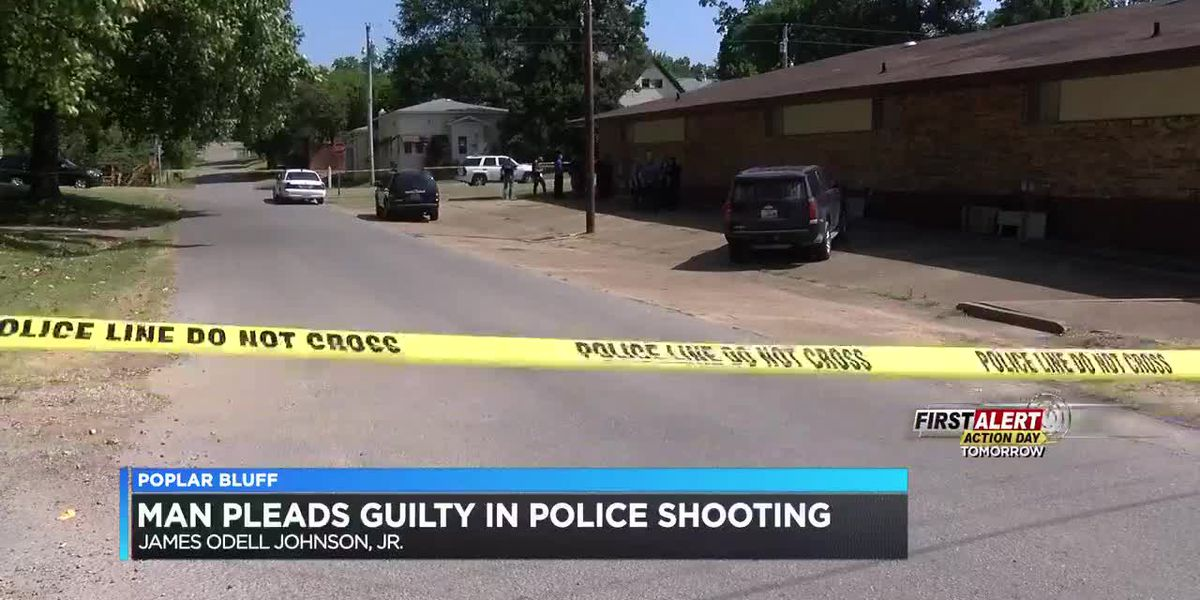 Man accused of shooting 2 officers pleads guilty