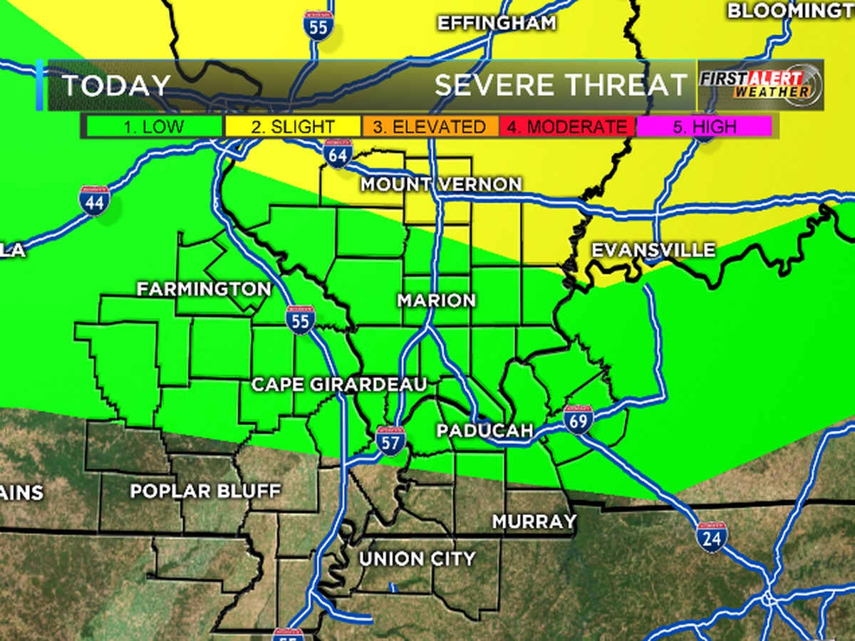 First Alert: Scattered showers could turn severe