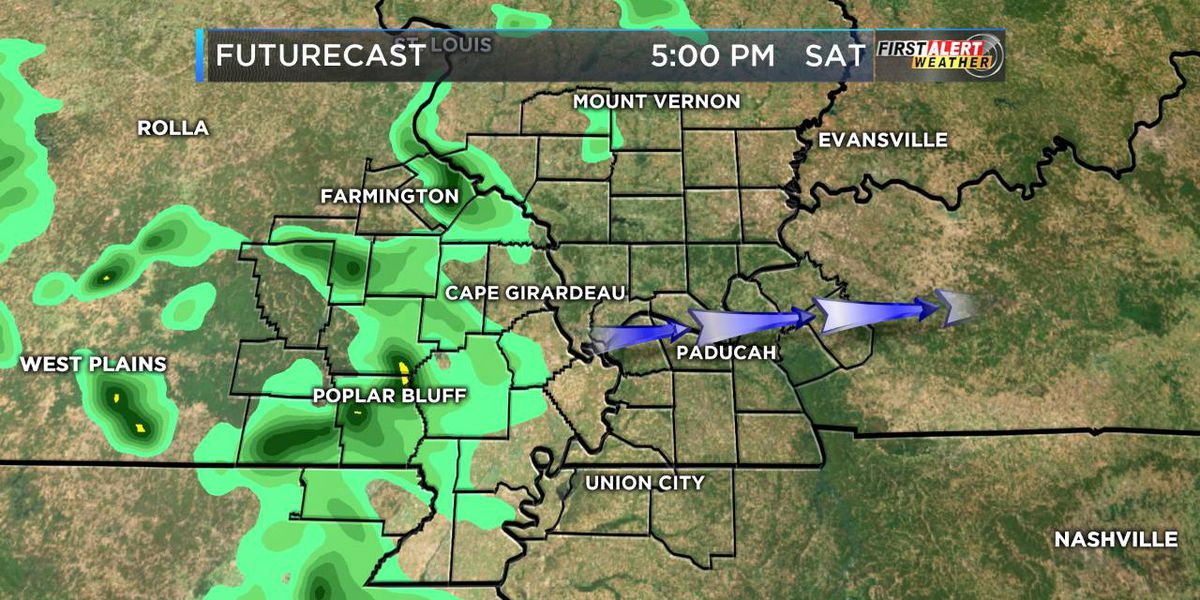 First Alert: Plenty of clouds, rain showers