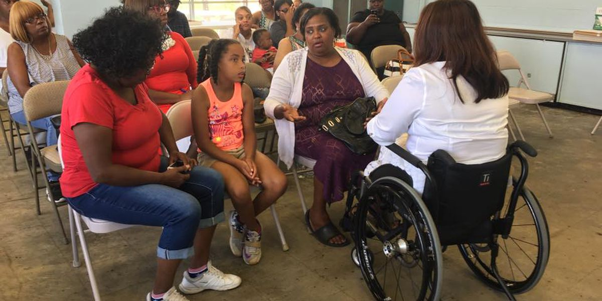 U.S. Sen. Tammy Duckworth meets with residents in Cairo, IL