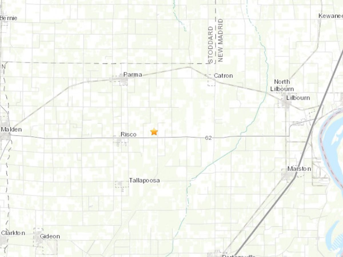 2.5 earthquake hits Lake County, TN
