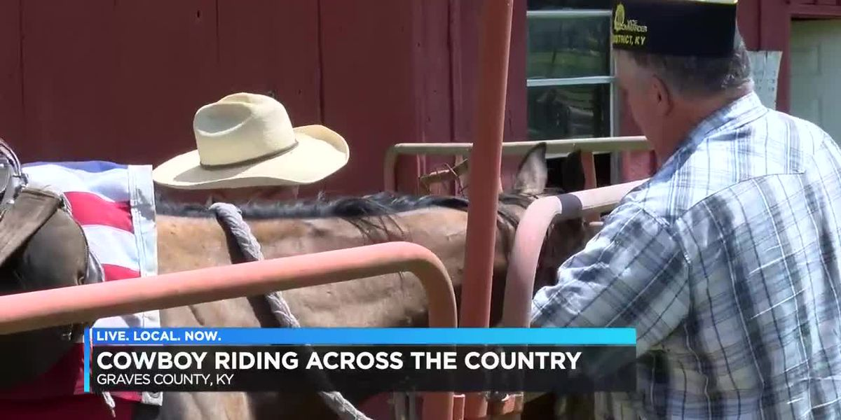 Cowboy travels across the country to spread positive message