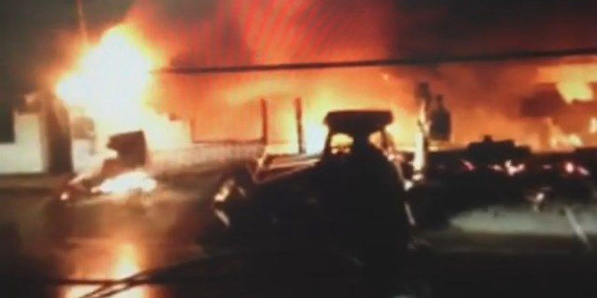 Old Bloomfield police station goes up in flames