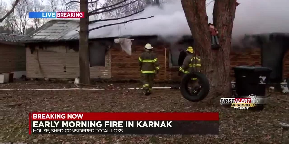 House and shed fire in Karnak, IL