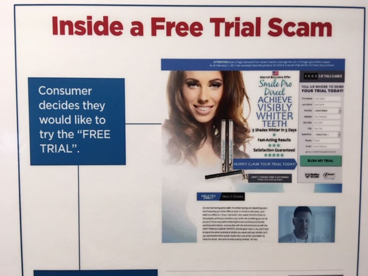 BBB releases study on Free Trial scams