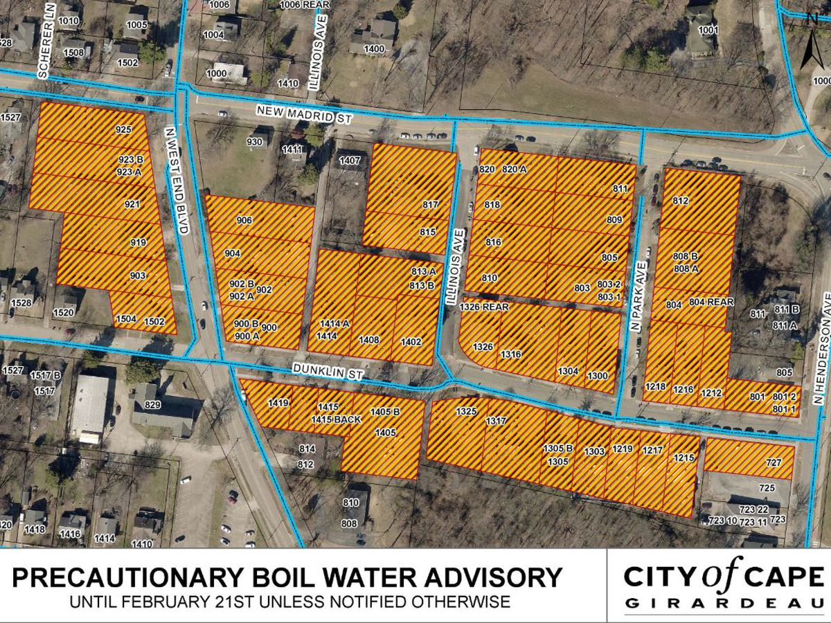 Water main break near university, Cape Girardeau neighborhood under boil water advisory