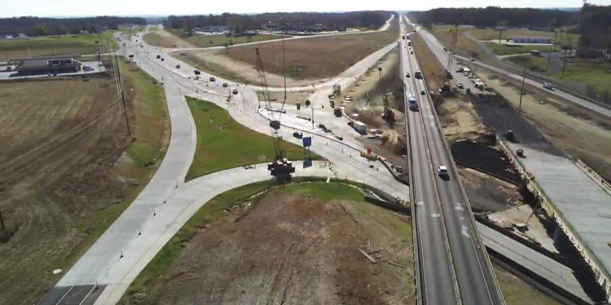I-55 traffic shifts for diverging diamond interchange at Center Junction to begin