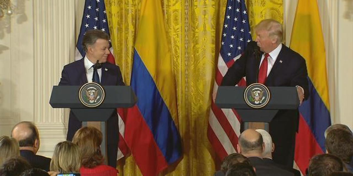 Pres. Trump gives joint press conference with Colombian President Santos