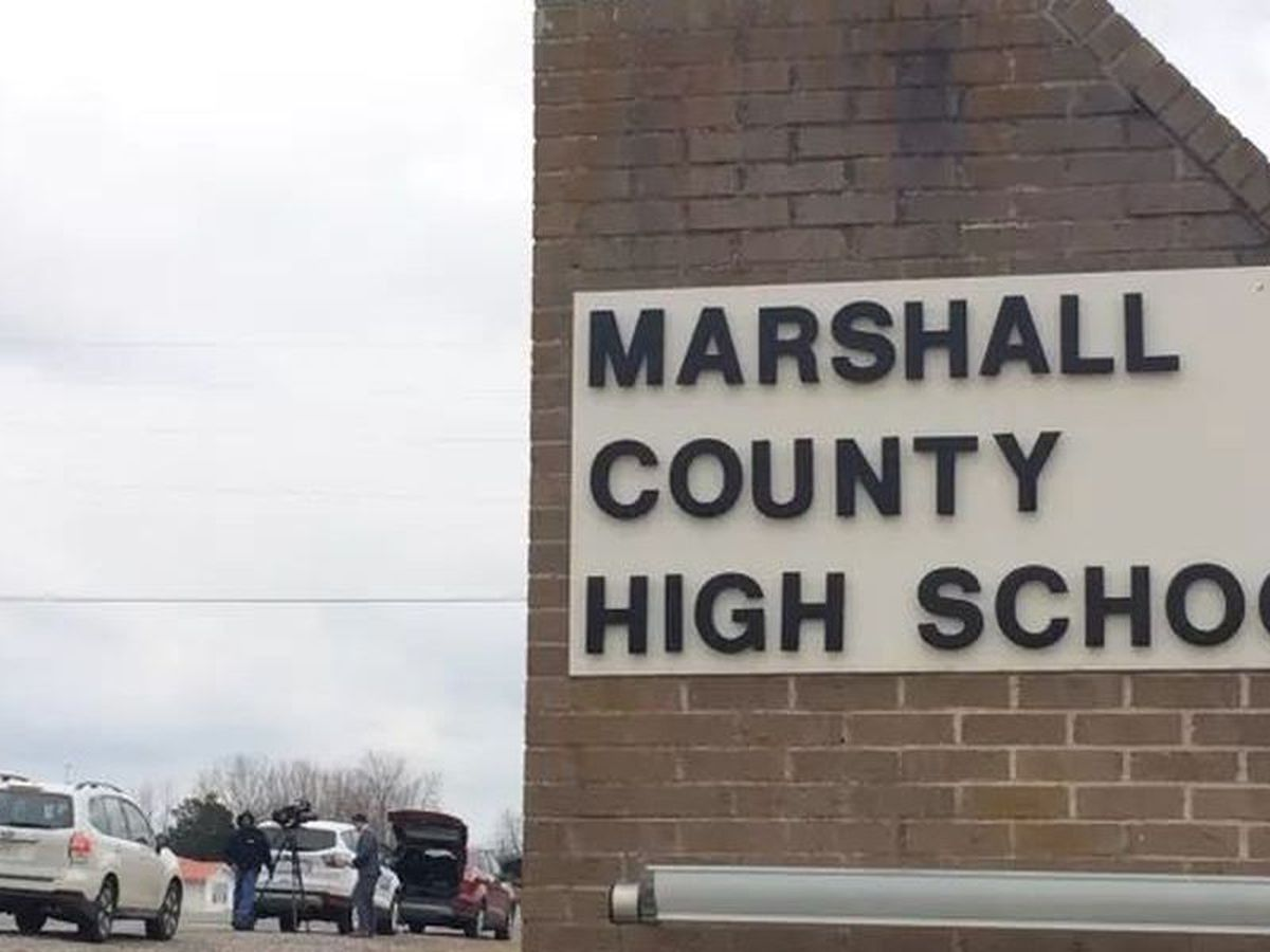 Remembrance assembly at Marshall Co. High School