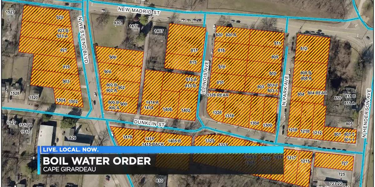 Boil order in Cape Girardeau neighborhood