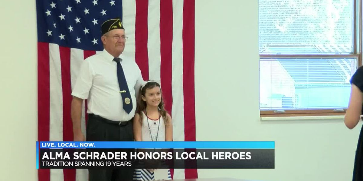 Alma Schrader honors local heroes
