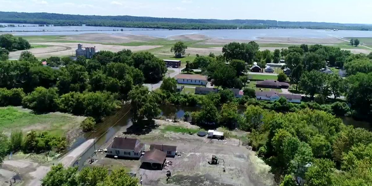 Drone12: Flooding in McClure, Ill. 8/1