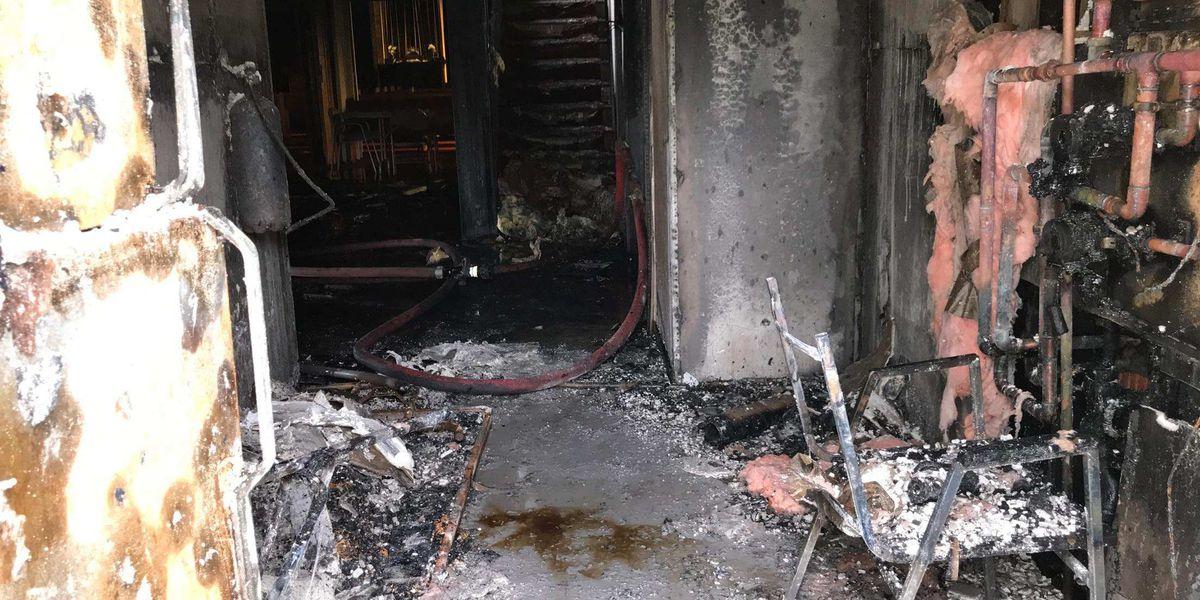 Fire damages Otterbein United Methodist Church in Bluford, IL