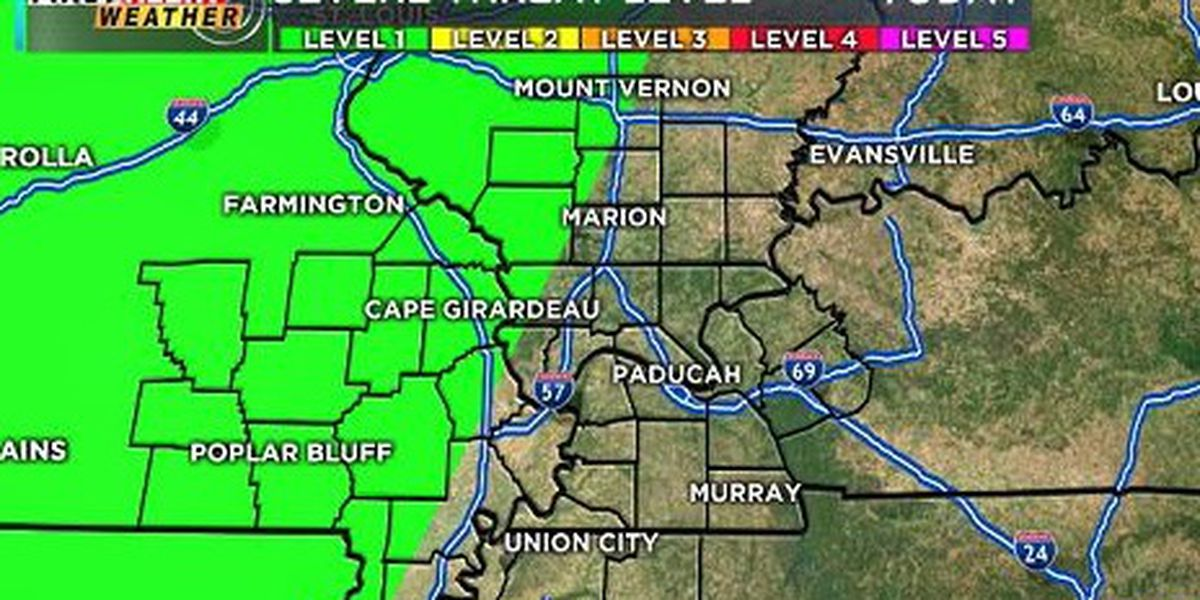 First Alert: Scattered thunderstorms possible this evening