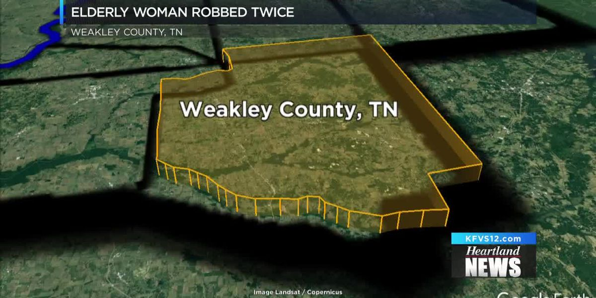 Elderly woman robbed twice in Weakley Co., TN