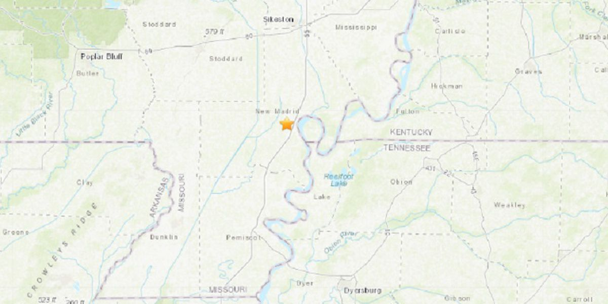 M2.9 earthquake recorded near Howardville, MO