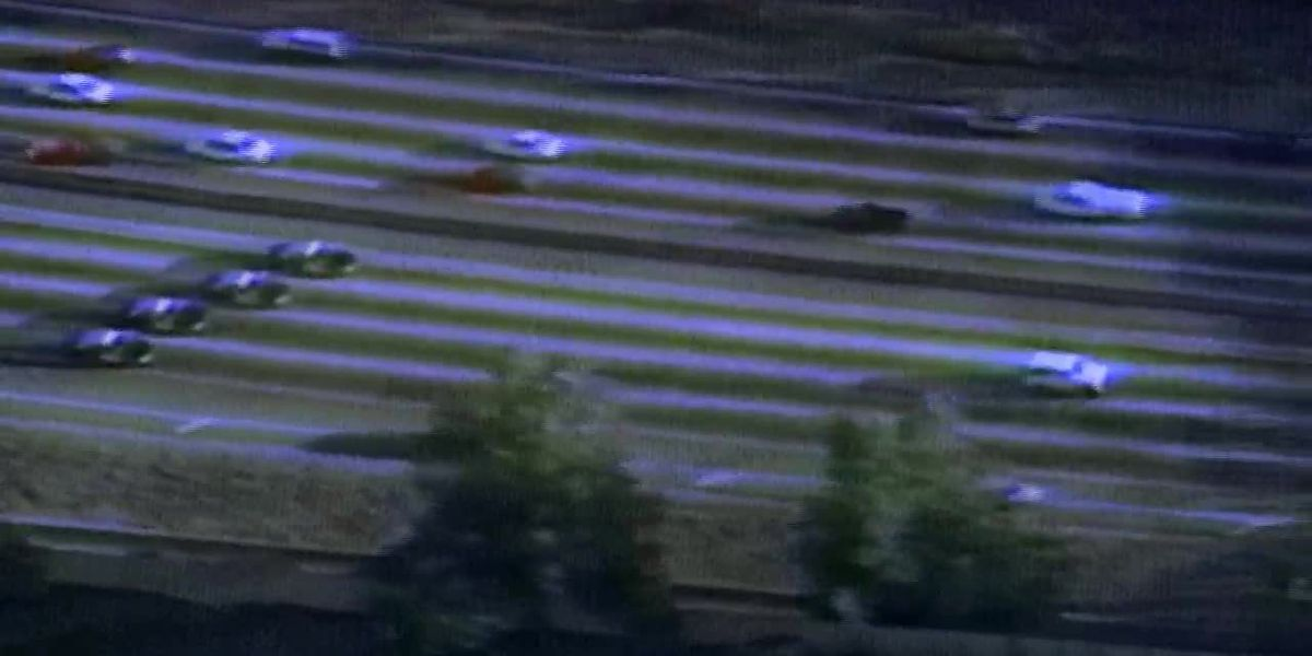 OJ Simpson slow chase down LA freeway (no sound)