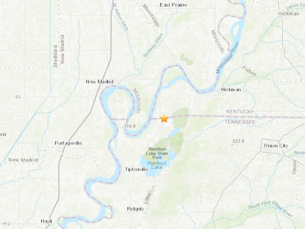 2.4 earthquake hits near Kentucky/Tennessee line