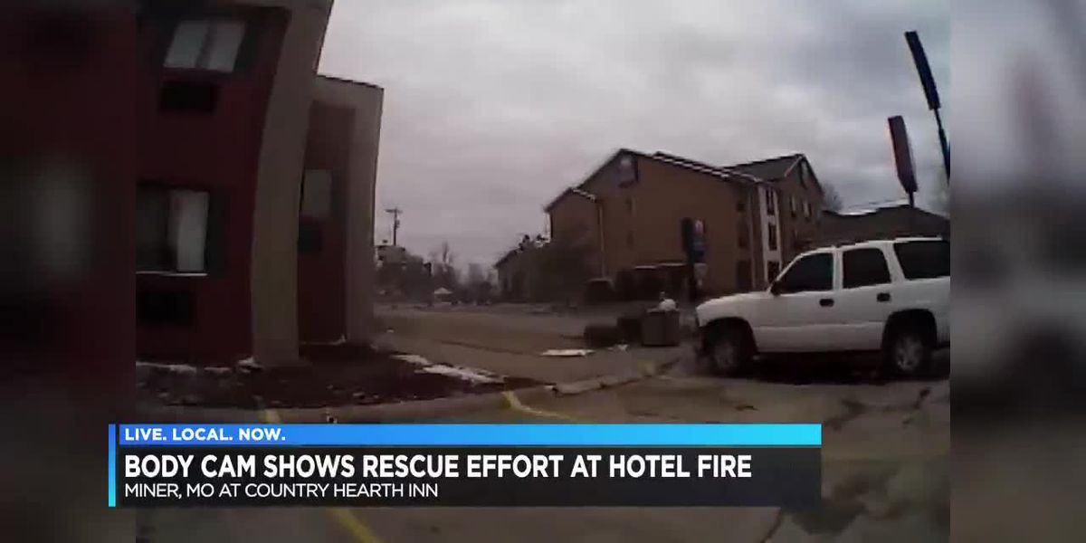 Police release body cam footage of Miner hotel fire