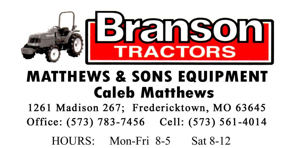 Matthews and Sons Equipment