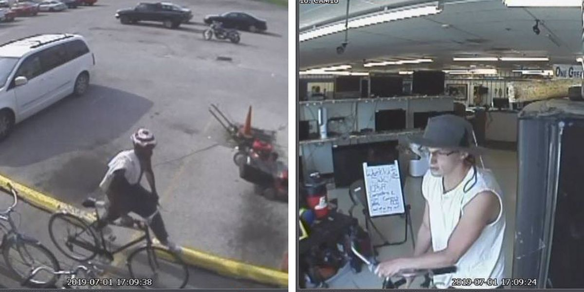 Marion, Ill. police looking for 2 men in connection to stolen bicycle