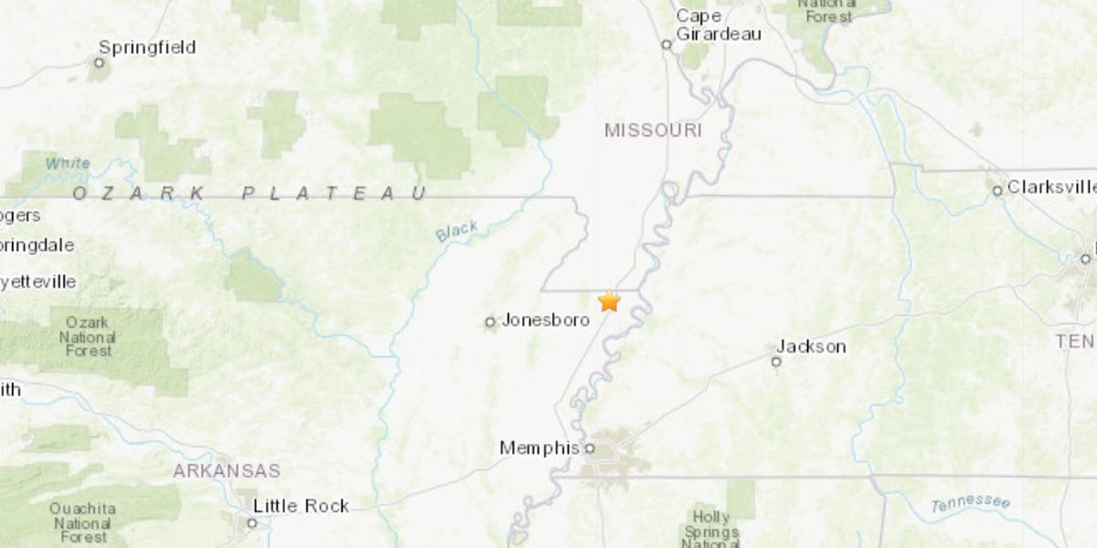 M2.8 earthquake recorded near Blytheville, Ark.