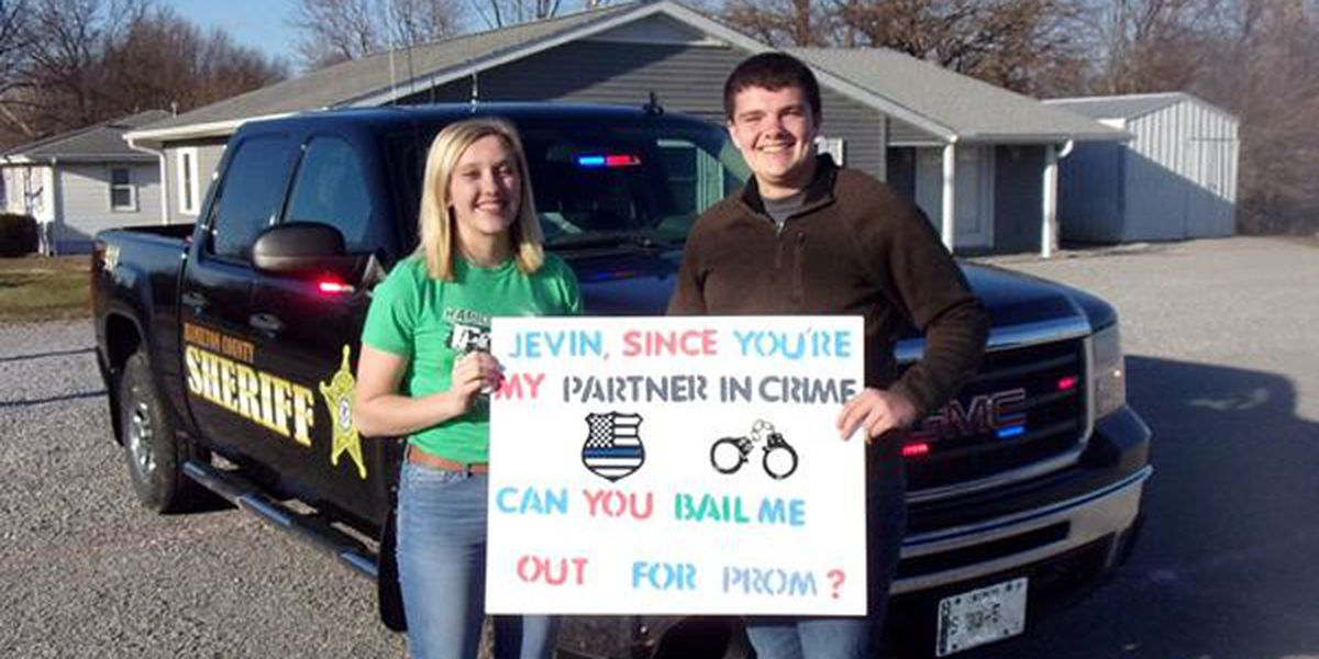 Deputy's body cam captures high school promposal