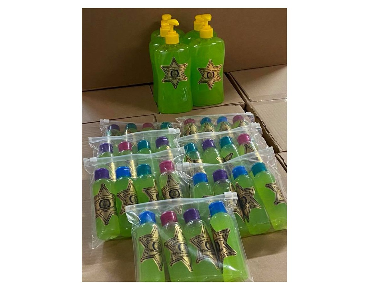 Sheriff's office makes hand sanitizer due to scarce supplies