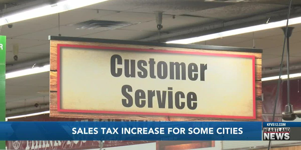 Sales tax increase for some cities