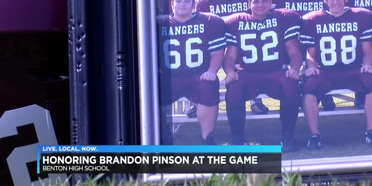 Honoring man killed in Iraq at Benton football game